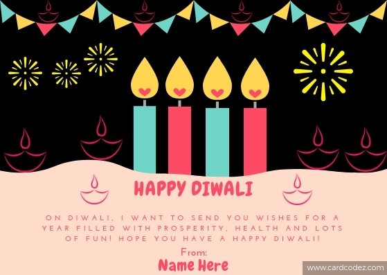 Create Happy Diwali Greeting Card With Your Name Online Tool