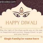 Happy Diwali Greeting Card with Name