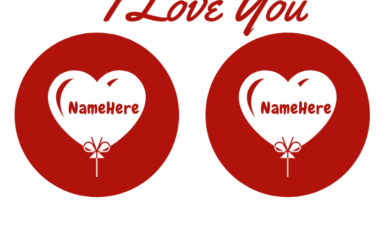 Write your and your lover name on hearts