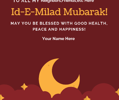 Id-E-Milad Mubarak poster 4k hd greeting card with name