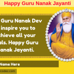 Write name on Happy Guru Nanak Jayanti Greeting Card