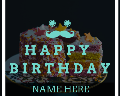 Create Greeting Card Man Boy Birthday With Name
