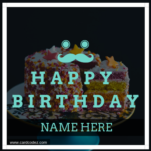 Man Boy Birthday Greeting Card With Name