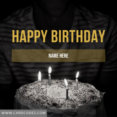Write Name on Happy Birthday Greeting Card
