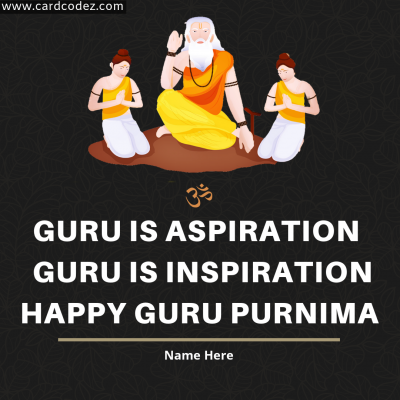 Wish Happy Guru Purnima with Name Greeting Card