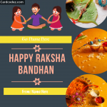 Write Your and Brother Sister Name on Happy Raksha Bandhan Greeting Card