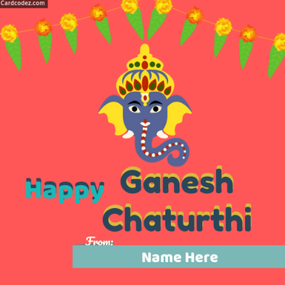 Happy Ganesh Chaturthi Photo With Name Whatsapp Status Photo