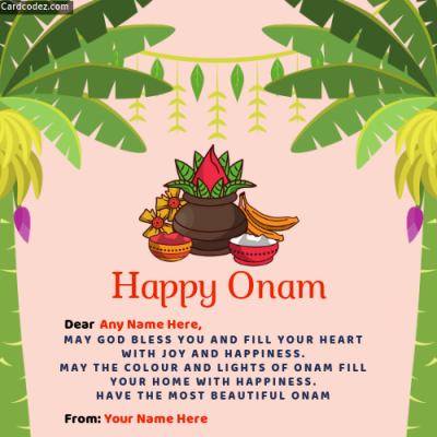 Make Onam Greeting Image with Name