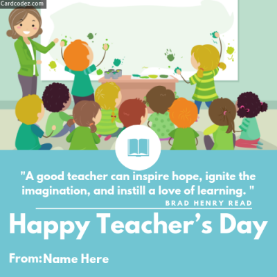 write on happy teacher s day quote greeting card photo for