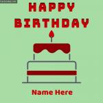 Birthday Name Photos with Cake