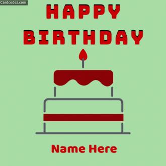 🎂 Birthday Name Photos with Cake