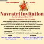 Make Navratri Festival Event Invitation Card Maker Online - Garba Dandiya Invitation for whatsapp