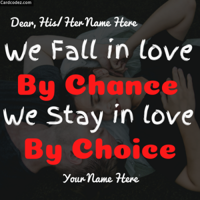 Write Couple Name on Love Quote Photo