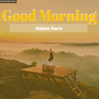Write Name on Good Morning WhatsApp Status Photo