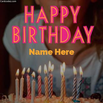 Write Name on Happy Birthday Photo For Girls Birthday