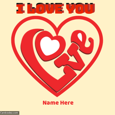 Write Name on I Love You Heart Pic