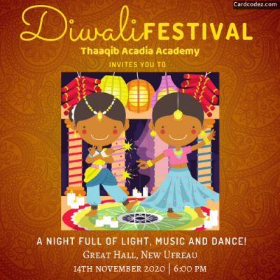 Diwali festival music and dance party invitation maker