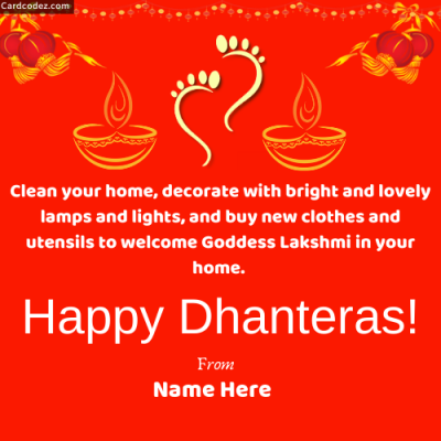 Happy Dhanteras Write Name on Pic