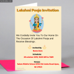 Lakshmi Pooja Invitation Card Maker Online