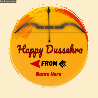 Make Happy Dussehra Name Photo Online