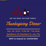 Make Thanksgiving Dinner Invitation Card Online