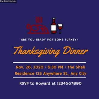 Make Thanksgiving Dinner Invitation Card Online