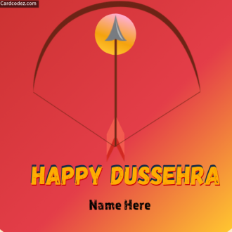 Name on Happy Dussehra Image Card