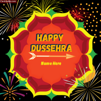 Write Name on Happy Dussehra DP Photo Maker