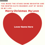 Write Name on Merry Christmas My Love Greeting Card