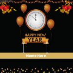 Write Name on Happy New Year Image