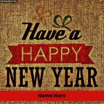 Write Name on Have a Happy New Year Greeting Card Photo