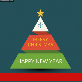 Write Name on Merry Christmas and Happy New Year Card