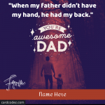 Write Name on Happy Father's Day Quote Greeting Card
