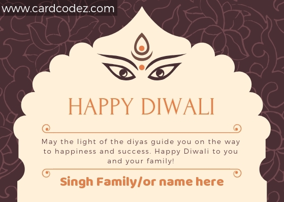 Happy Diwali Greeting Card with Name - write name on diwali greeting cards