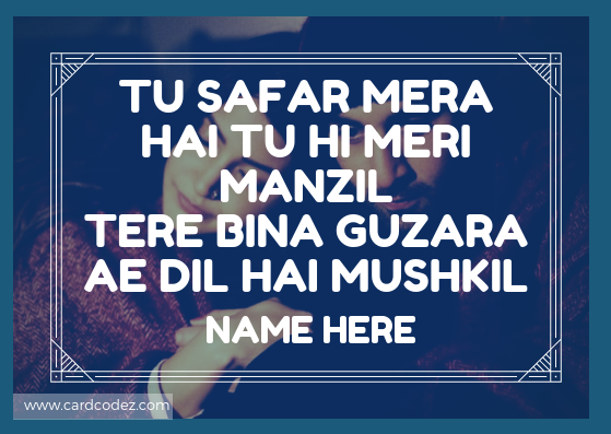 Write name on Ae dil hai mushkil Whatsapp Status Photo