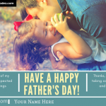 Write Name on Happy Father's Day Photo Card - Daughter and Father Card