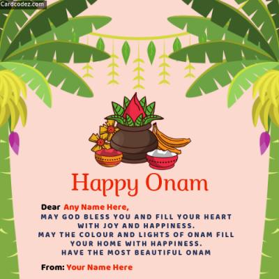 Make Onam Greeting Image with Name