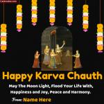 Write Name on Happy Karva Chauth Photo Status
