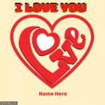 Write Name on I Love You Heart Pic