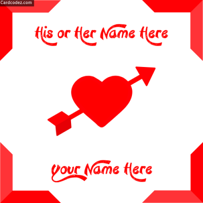 Write Your and Your Lover Name on Photo