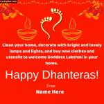 Happy Dhanteras Write Name on Pic