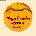Make Happy Dussehra Name Photo Online