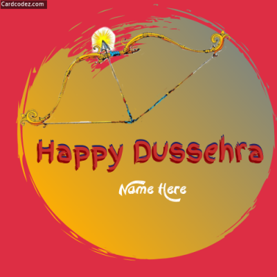 Write Name on Happy Dussehra Photo Clip Art