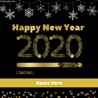 Happy New Year Loading Greeting Card With Your Name