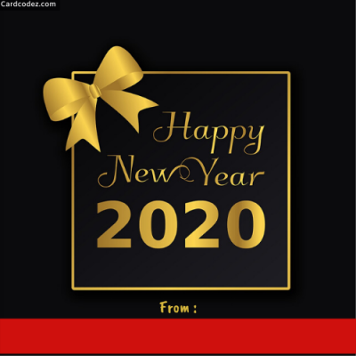 Write Name on Happy New year 2020 DP Photo Card