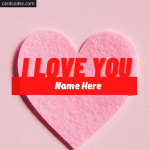 Write Name on Pink Color Heart Photo - 3D heart name and image
