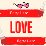 Write name on love with your and lover name on photo